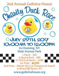 Gullotta House Annual Duck Race: 2017