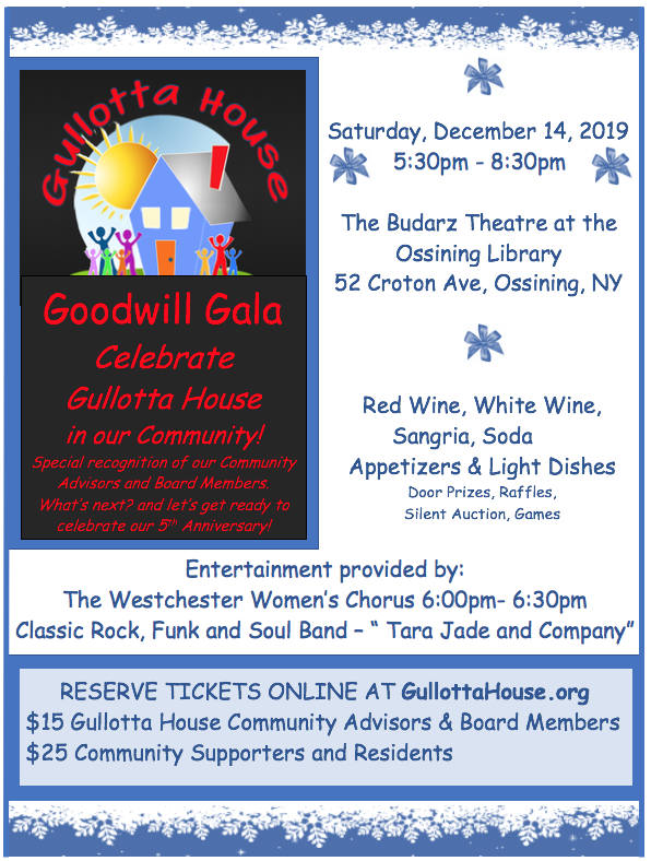 Announcement of Goodwill Gala